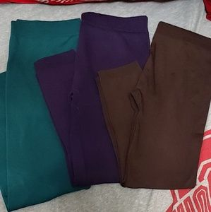 Warm fleece lined leggings